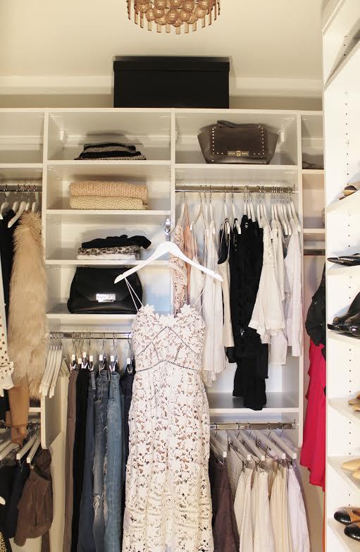 Jennifer's organized closet.